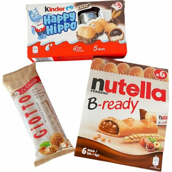 Ferrero Nutella Bready, Giotto, Kinder Happy Hippo Ithal 3'lü Set
