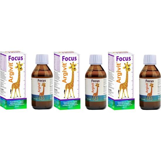 Argivit Focus 150 ml Şurup 3 Adet