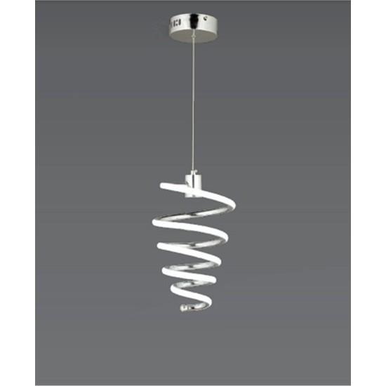 Burenze Modern Sarkıt Helezon LED Avize Krom BURENZE839