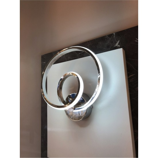 Burenze A+ Luxury Modern Duvar LED Aplik Kademeli 3 Renk Krom BURENZE806