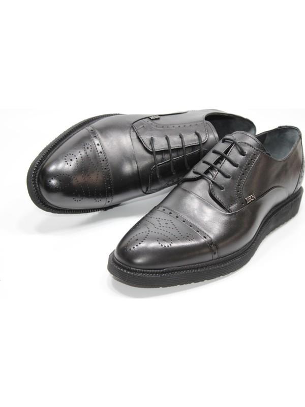 Berenni Hakikideri Poliüretan Düz Taban Maskaratlı Bağcıklı Klasik Erkek Ayakkabı