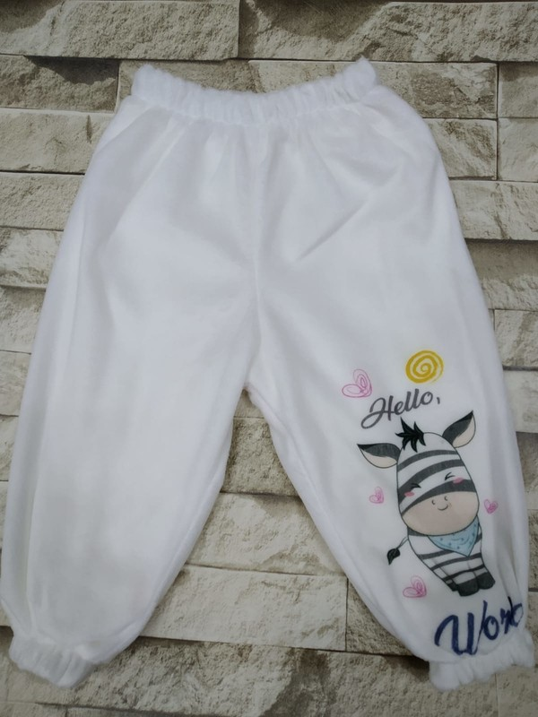 Kids Buude Welsoft Antibakteriyal Kumaş Kalın Tek Alt Bebek Pantolon