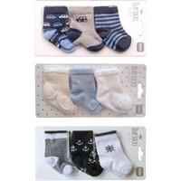 Olay Socks 0-6 Ay Yeni Doğan Erkek Bebek Soket Çorap