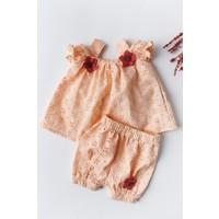 Babymod Kız Bebek Elbise Çiçek Işlemeli Bebek Elbise