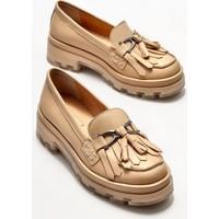 Elle Naturel Deri Kadın Loafer