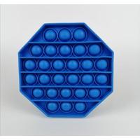 Pop It Push Bubble Duyusal Zihinsel Stres Oyuncağı Sekizgen- Mavi
