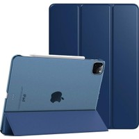 FUJİMAX Apple iPad Pro 11 2021 M1 Çipli A2301 A2459 A2460 Seri Yatay Standlı Uyku Modlu Mıknatıslı Smart Kılıf +Kalem Lacivert