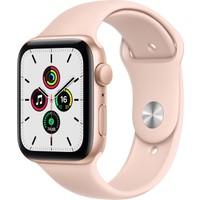 Apple Watch SE 44mm GPS Gold Alüminyum Kasa ve Kum Pembesi Spor Kordon MYDR2TU/A