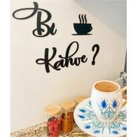 Heticaret Siyah Ahşap Dekoratif Duvar Süsü Bi Kahve Tablo