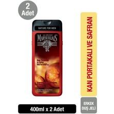 Le Petit Marseillais For Men Kan Portakalı ve Safran Duş Jeli ve Şampuan 400 ml x 2 Adet
