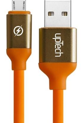 Uptech USB Micro Data ve Hızlı Şarj Kablosu 1,2 M Orange