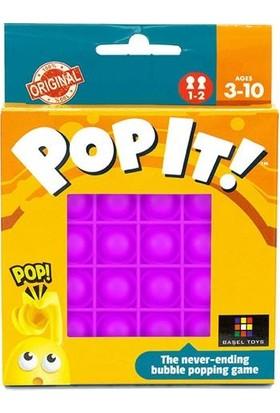 Pop It Duyusal Oyuncak Özel Pop Stres Kare Mor