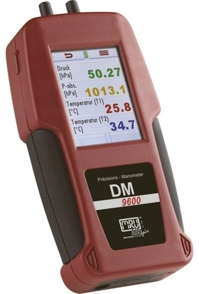 Mru DM9600 Portatif Fark Basınç Ölçer Manometre 75 Mbar