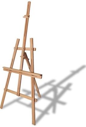 Woodmania Ayaklı Kayın Şövale Ayarlanabilir Resim ve Ressam Sehpası 172 cm
