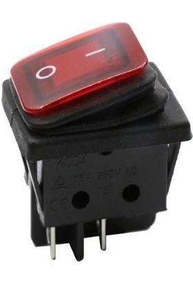 Motorobit Kcd4 Su Geçirmez 30A Kırmızı LED Işıklı On-Off Anahtar 4 Pin