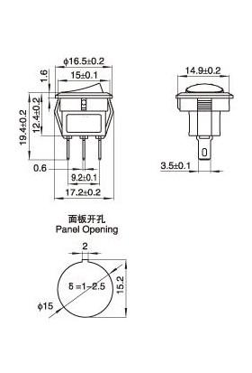 Motorobit KCD11 Işıklı On-Off Anahtar 3 Pin