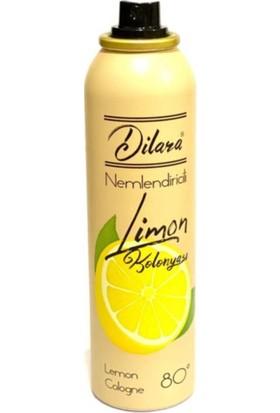 Dilara Dezenfektan Etkili 80 Derecelik Nemlendiricili Sprey Limon Kolonyası 150 ml