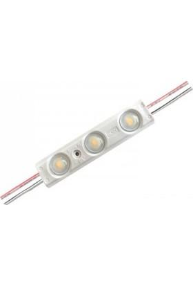 Ack AS04-00206 Mavi 12V Şeffaf Üçlü LED Modül