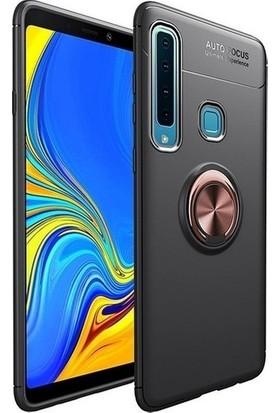 Fibaks Samsung Galaxy A9 2018 Kılıf Autofocus Shockproof Yüzüklü Standlı Silikon