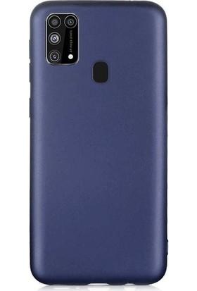 Fibaks Samsung Galaxy M21 Kılıf Klasik Mat Renkli Yumuşak Premier Silikon
