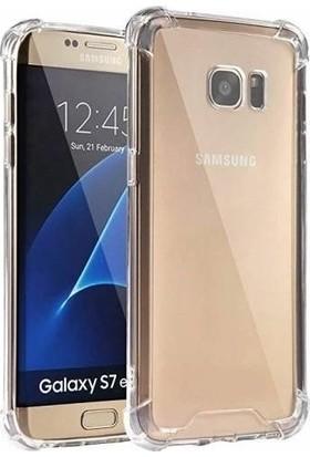 Fibaks Samsung Galaxy S7 Edge Kılıf Köşe Korumalı Anti Şok Sert Silikon