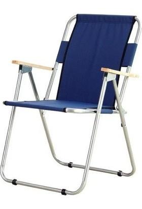 Bilmar Kamp Sandalyesi Metal Katlanır Ahşap Kollu