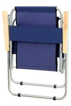 Bilmar Kamp Sandalyesi Metal Katlanır Ahşap Kollu x 2 Adet