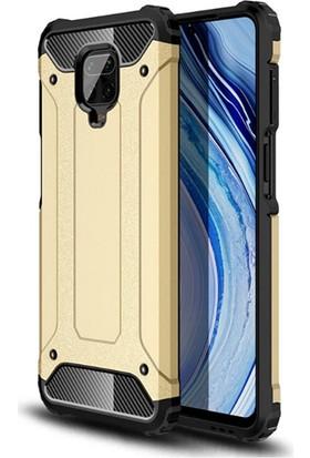 Moserini Xiaomi Redmi Note 9 Pro Tank Cover Gold Telefon Kılıfı - Arka Kapak