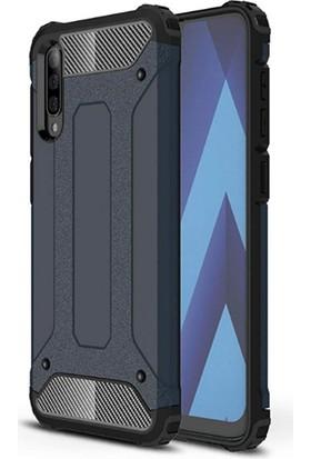 Moserini Samsung Galaxy A30S Tank Cover Lacivert Telefon Kılıfı - Arka Kapak