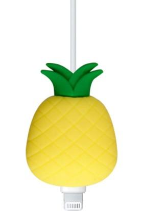 Happycase Sevimli Şarj Kablo Koruyucu Figürlü Kablo Ananas