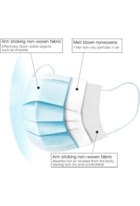 Medical Cottomask Yeni Nesil Full Ultrasonic 50 Li Kutu Meltblown - Beyaz