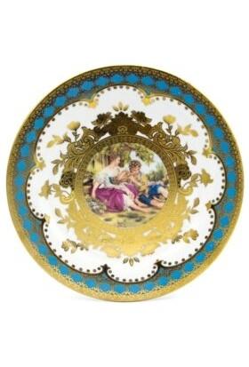 sembol Markıs Vintage Porselen 6'lı Pasta Tabağı