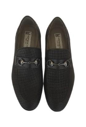 Moreschi Deri Erkek Ayakkabı Kösele Taban Siyah 05054