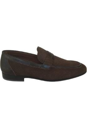 Kemal Tanca Deri Erkek Ayakkabı Renk Kahve Kösele Taban 05049