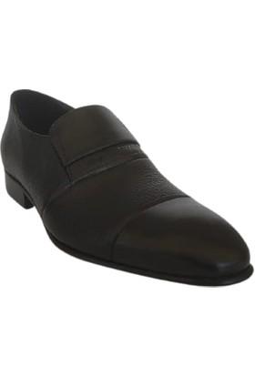 Kemal Tanca Deri Erkek Ayakkabı Kösele Taban Renk Siyah 05040