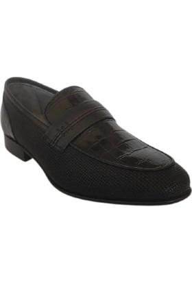 Rock Ford Deri Erkek Ayakkabı Siyah Kösele Taban 05042