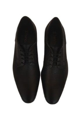 Kemal Tanca Deri Erkek Ayakkabı Kösele Taban Renk Siyah 05039