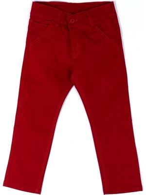 Cansın Mini Erkek Çocuk Kırmızı Slim Fit 2-7 Yaş Keten Pantolon 377-2