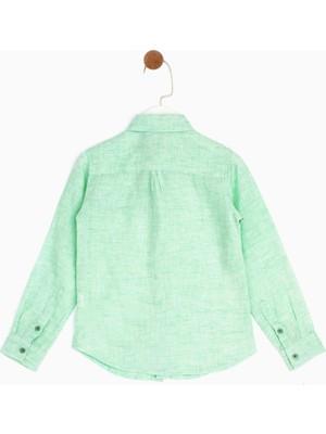 B&G Store Erkek Çocuk Yeşil Gömlek