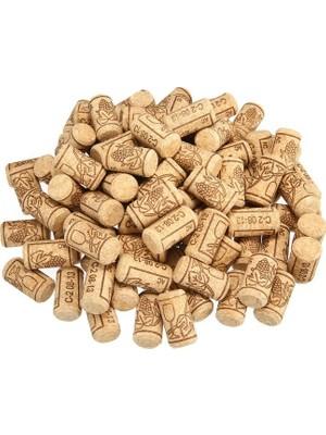 Dünya Magnet 100 Adet Şişe Mantarı - Doğal Mantar Tıpa - Şarap Şişesi Mantar Tıpası