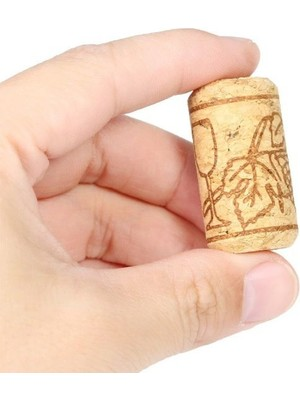 Dünya Magnet 10 Adet Şişe Mantarı - Doğal Mantar Tıpa - Şarap Şişesi Mantar Tıpası