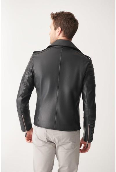 Black Noble Martın Siyah Biker Deri Ceket