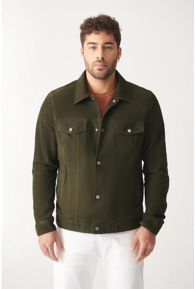 Black Noble Borıs Yeşil Süet Deri Ceket