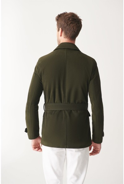 Black Noble Olıver Yeşil Süet Safari Ceket