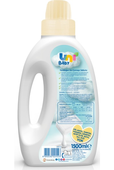 Uni Baby Yeni Doğan Çamaşır Sabunu 1500 ml