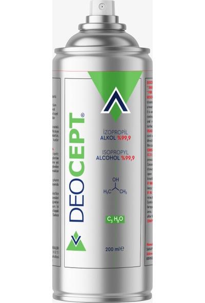 Deocept 200ML %99,9 Saf Izopropil Alkol - Genel Temizlik Spreyi
