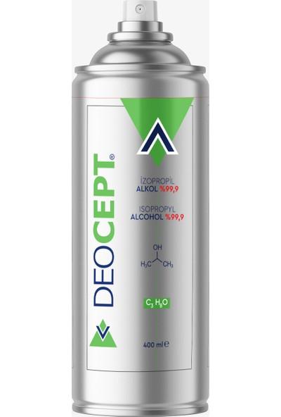 Deocept 400ML %99,9 Saf Izopropil Alkol - Genel Temizlik Spreyi