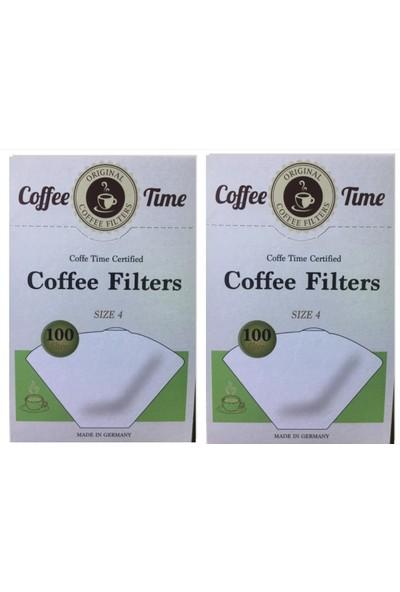 Coffee Time Filtre Kağıdı 4 Numara 2*100