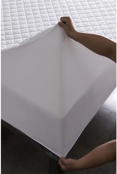 Ely Parker Kapitoneli Yatak Saran Sıvı Geçirmez Alez Yatak Koruyucu Pamuklu Fitted 180 x 200 cm