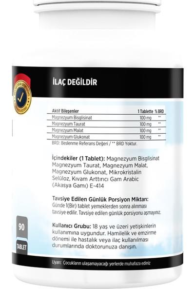 FLX Magnezyum Bisglisinat Malat Taurat Glukonat 90 Tablet